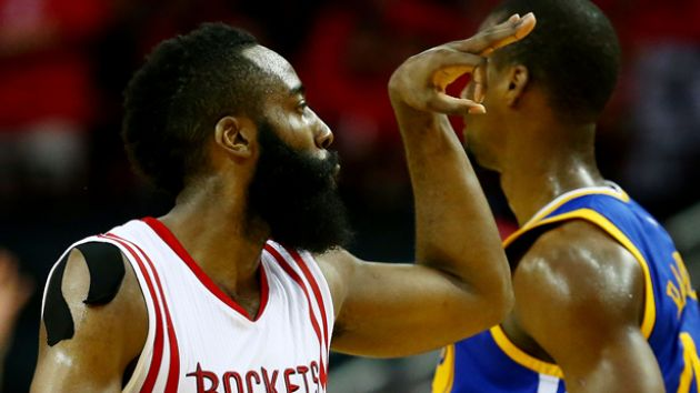 Harden frena la fiesta de Warriors (128-115)