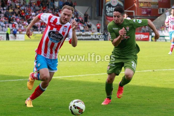 """Crónica. CD Lugo 1-2 Real Sporting: """" El Sporting vence con sufrimiento al Lugo """""""