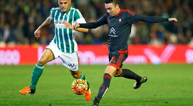 Reparto de puntos en el Villamarín: Betis 1 – Celta 1.
