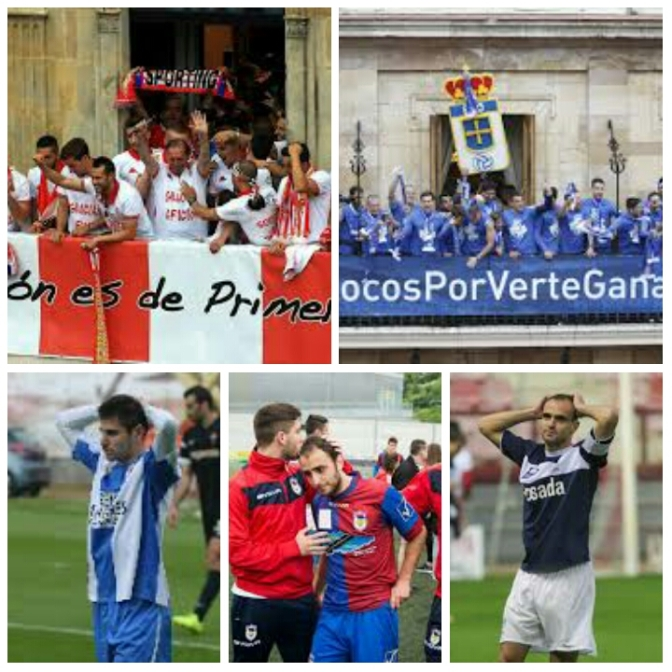 Sonrisas y lágrimas para el fútbol asturiano