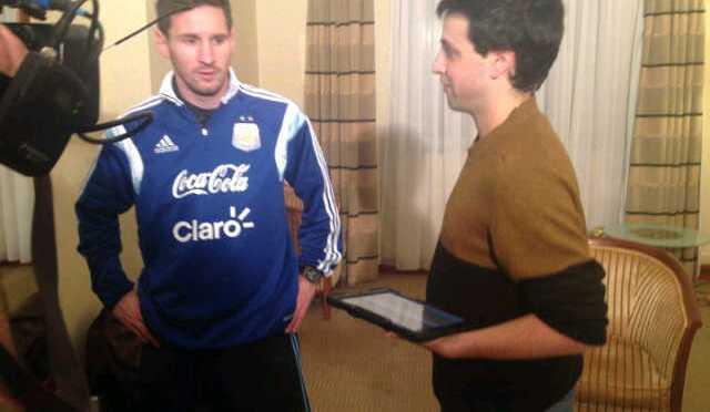 """Entrevista a Federico Russo: """"es una locura criticar a Lionel Messi"""""""